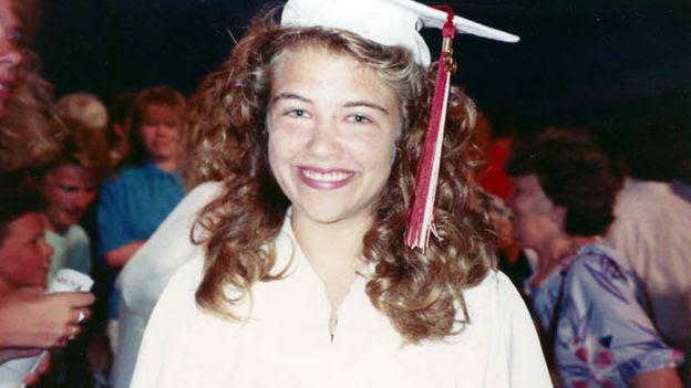 Katie Koestner at her high school graduation