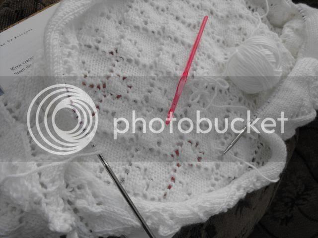 wedding shawl-picking up stitches
