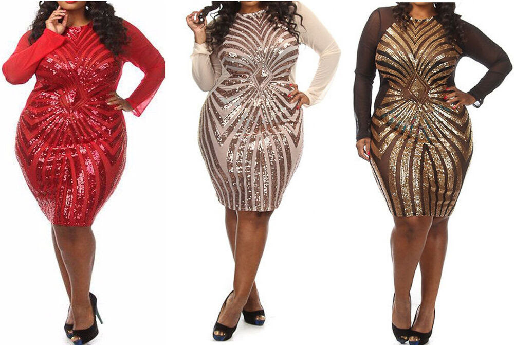 Sequin bodycon dress plus size high quality jabong