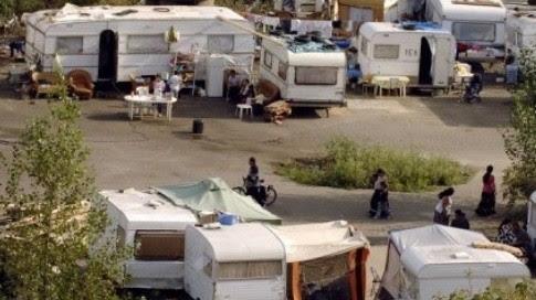 Un camp de Roms, près de Nantes (AFP)