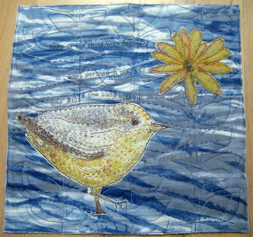 bird and a daisy