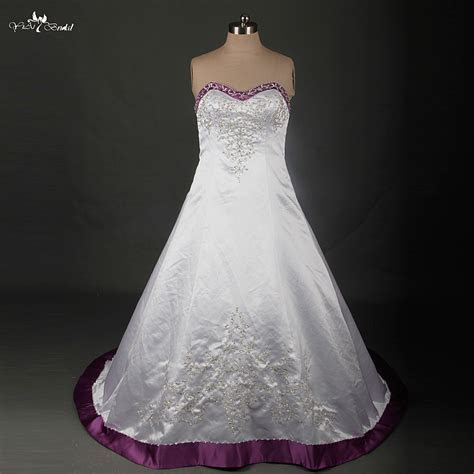 Purple And White Wedding Dress Naf Dresses   Wedding Dress