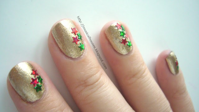 christmas nails gold orly luxe 1