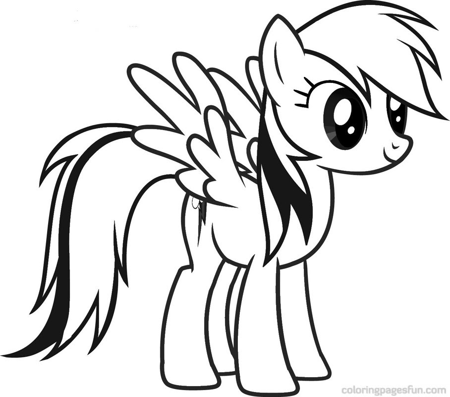 My Little Pony Friendship Is Magic Coloring Pages Fluttershy At