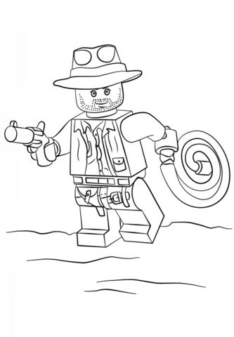 Disegno Di Lego Indiana Jones Da Colorare Disegni Da Colorare E