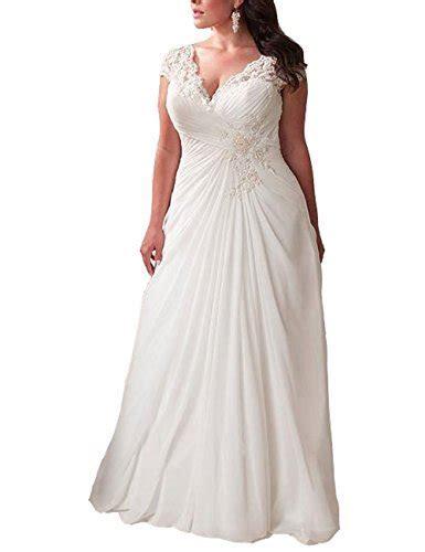 Mulanbridal Elegant Applique Lace Wedding Dress Chiffon V
