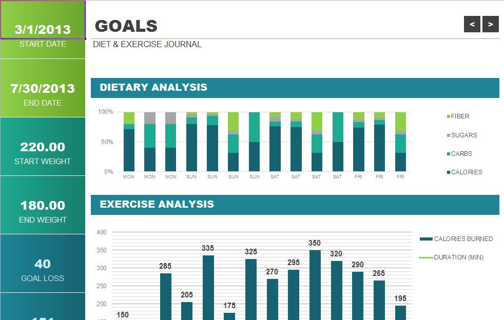 Excel Templates: Free Printable Workout Log and Blank ...