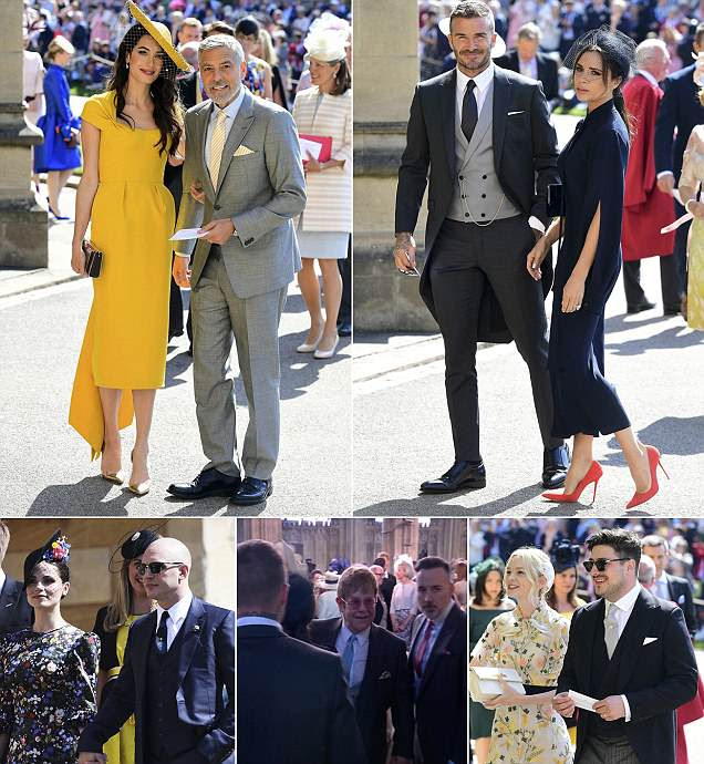 Image result for The Beckhams And The Clooneys Lead The A-List Guests As Members Of The Royal Family Take Their Seats For The Big Day At Windsor