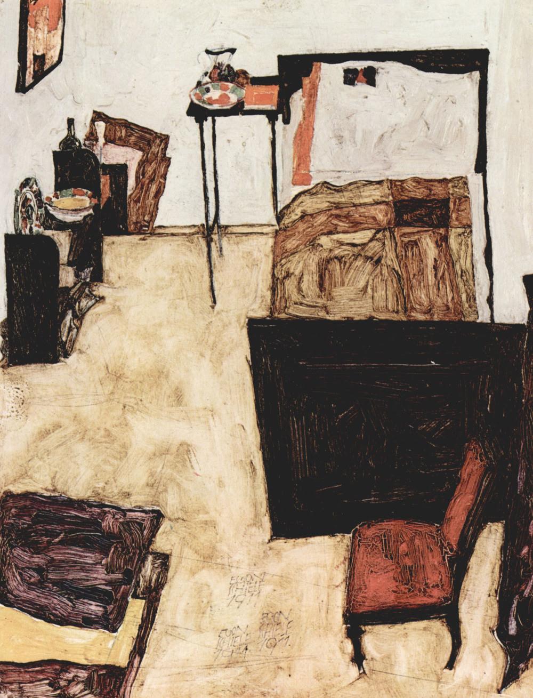 likeafieldmouse:  Egon Schiele- Room in Neulengbach (1911)