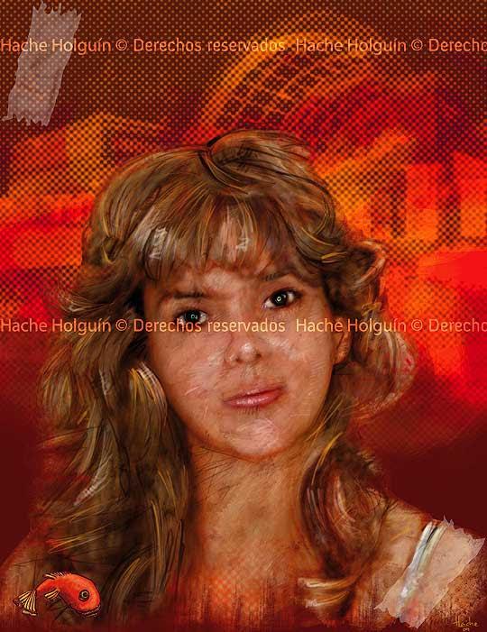 Retrato de Olga Vega por Hache Holguin