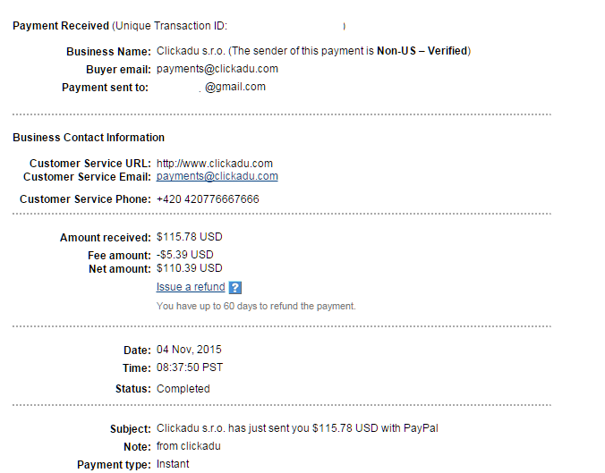 Image result for ClickAdu payment proof