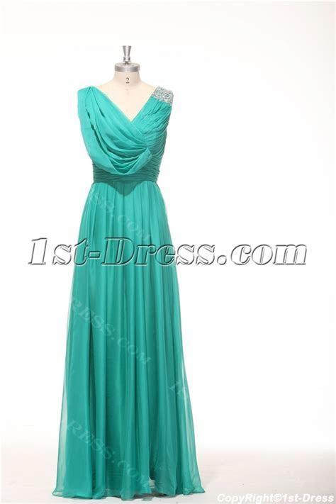 2014 Teal Green Classy Prom Dresses Long:1st dress.com