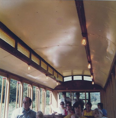 Carson filament bulbs - trolley car, Orbisonia, PA Sept '75