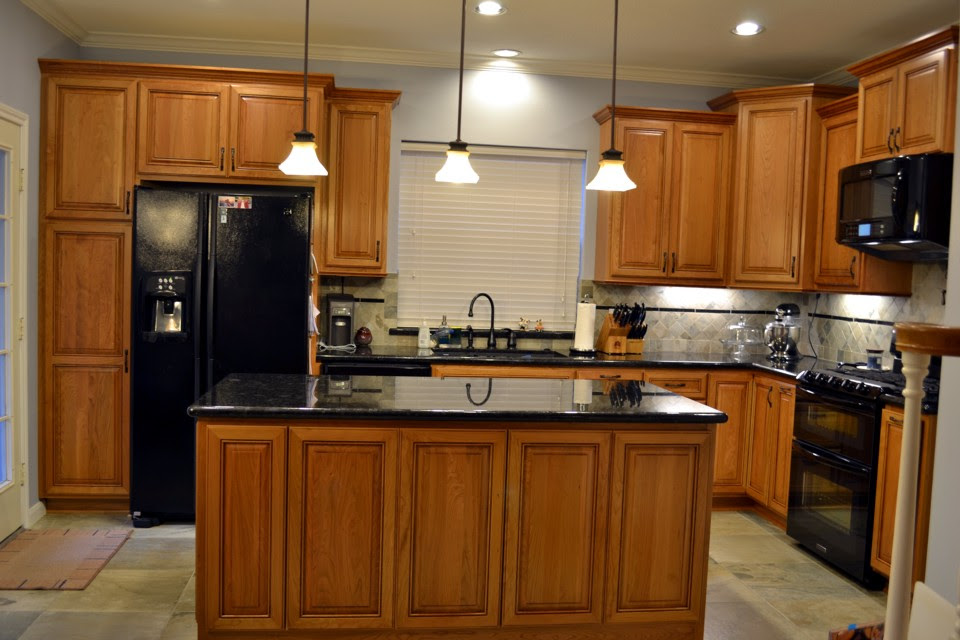 Natural Cherry Custom Kitchen Cabinets
