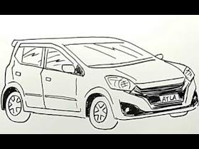 Sketsa Mobil Ayla