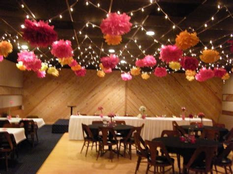 Tissue paper flowers for wedding reception decor.   Hot