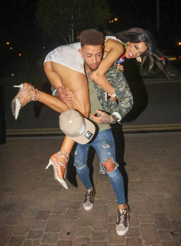 Ashley Cain celebrates his birthday with girlfriend and ex 'Big Brother' star Chloe Khan at Gallery Nightclub in Maidstone