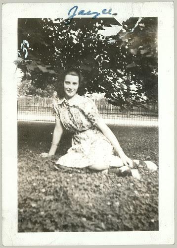 Jayce or Joyce sitting on grass