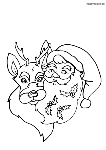 33 ausmalbilder weihnachtsmann mit schlitten  besten