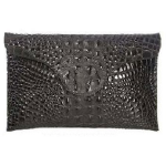JJ Winters Croco Envelope Clutch