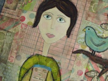 Girl and bird 001