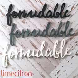 Acrylique - Formidable