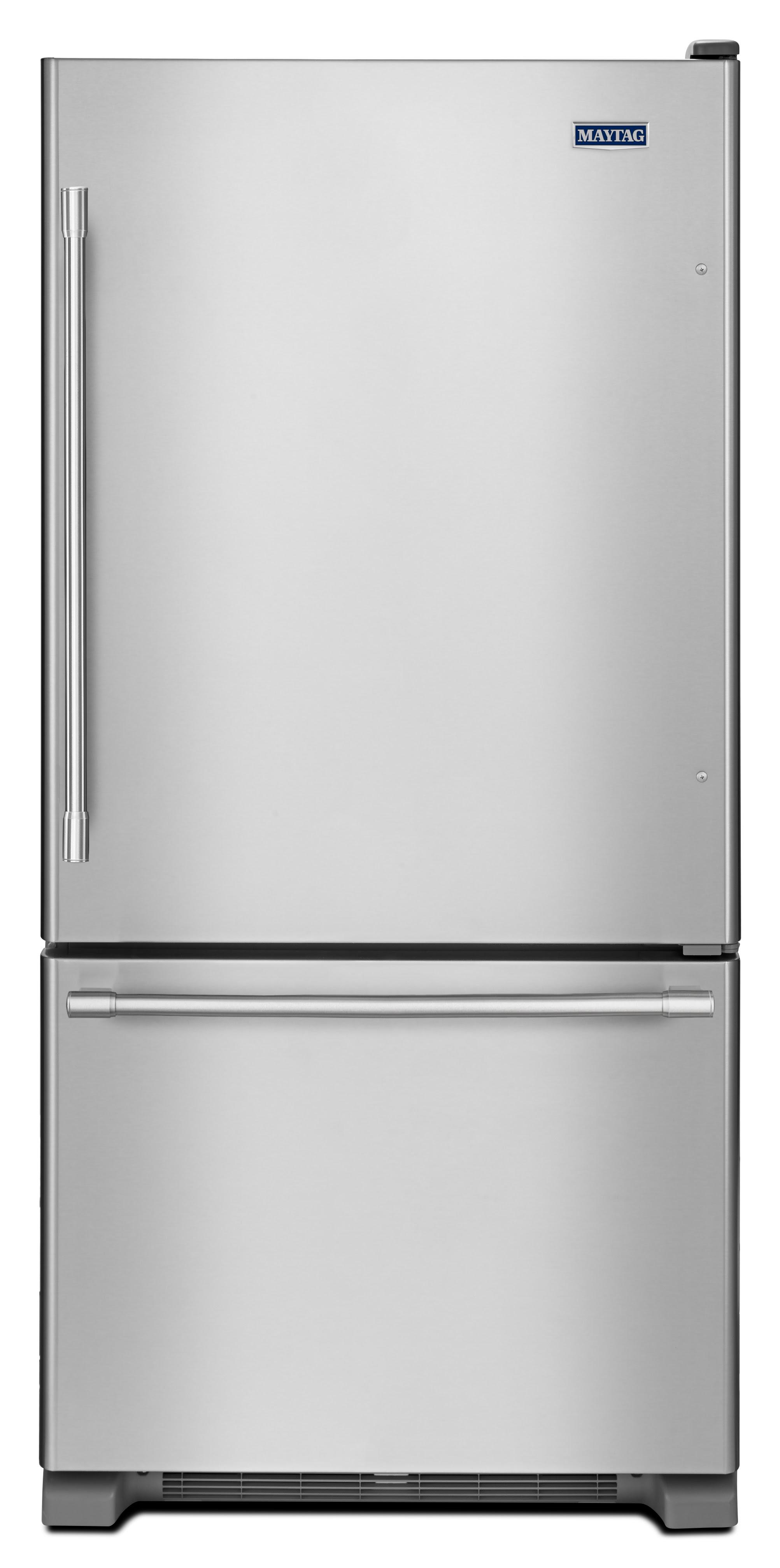 UPC Maytag 18 6 Cu Ft Bottom freezer Refrigerator