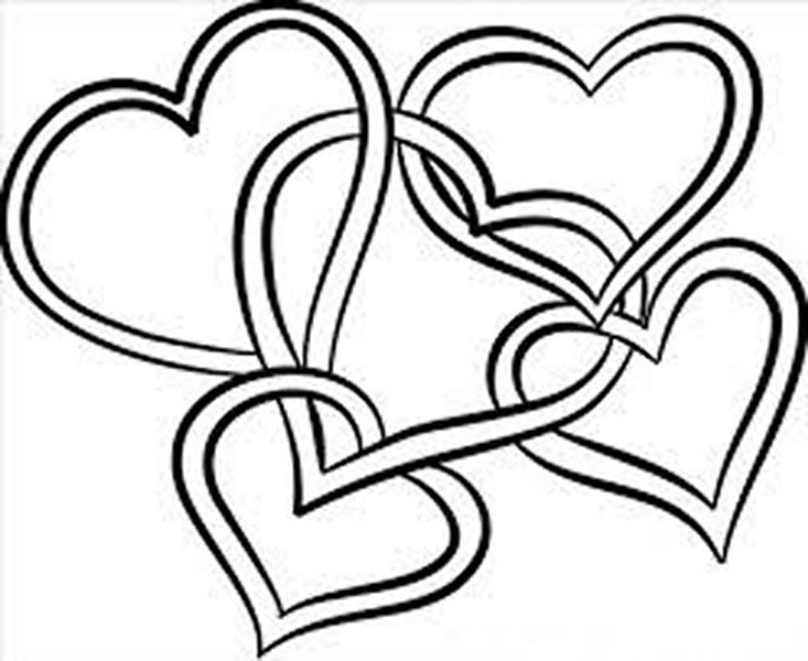 Coloring Pages Of Roses And Hearts Arenda Stroy