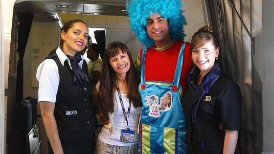 Image: A clown is part of the cabin crew on select El Al flights from Tel Aviv to New York and other cities this summer.