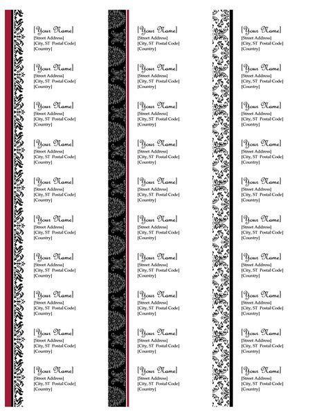 Return address labels (Black and White wedding design