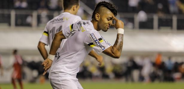 Com assistência de Geuvânio, atacante Gabriel Barbosa abriu o marcador contra o Princesa do Solimões