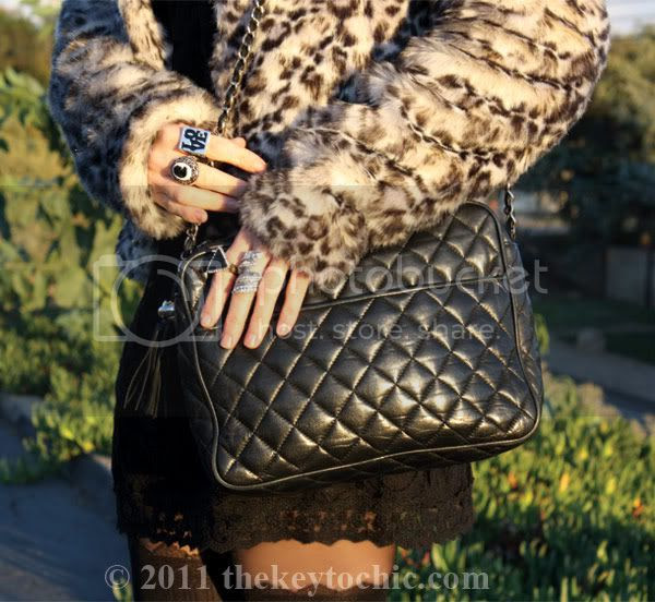 lace dress, vintage quilted handbag, Los Angeles fashion blogger