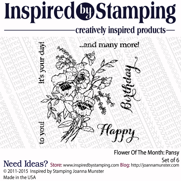 Inspired by Stamping Flower Of The Month Pansy Stamp Set
