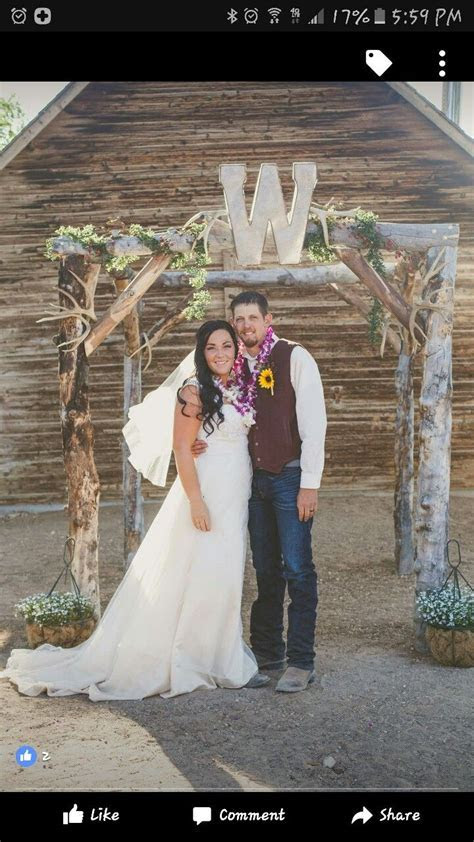 The 25  best Rustic wedding archway ideas on Pinterest