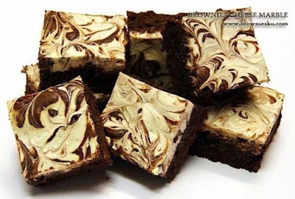 resep marble brownies soalan mudah Resepi Biskut Coklat Masakan Enak dan Mudah