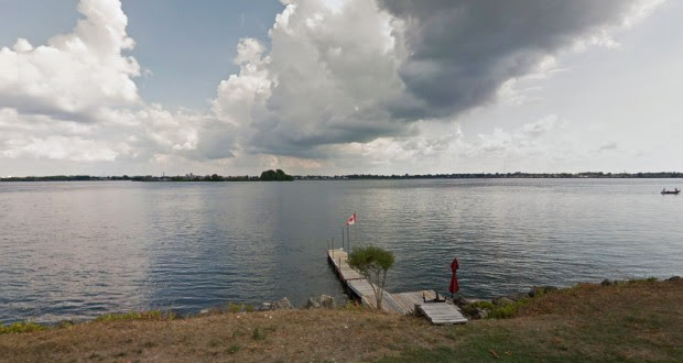 The witness said the triangle-shaped object was massive in size and made no sound as it moved overhead about 10:10 p.m. on August 13, 2014. Pictured: Fort Erie. (Credit: Google)