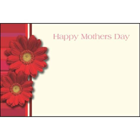 Mother's Day Borders   Mothers Day Red Gerberas with a