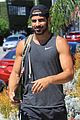 nyle dimarco shows off his buff arms heading to the gym 04