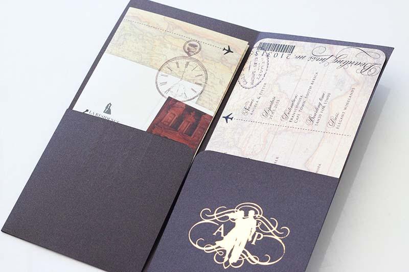 K'Mich Weddings - wedding planning - Boarding Pass Invitation - Secret Diary