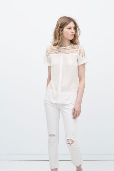 Zara Combined Guipure Lace Top