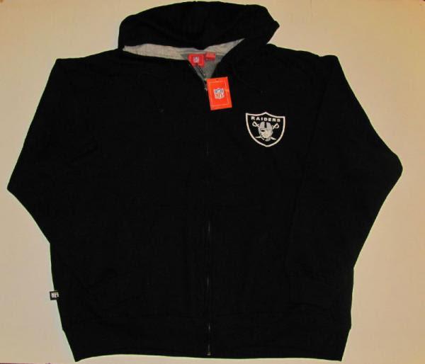 Big  Tall NFL Team Apparel Oakland Raiders Zip Hoodie Mens 4X New