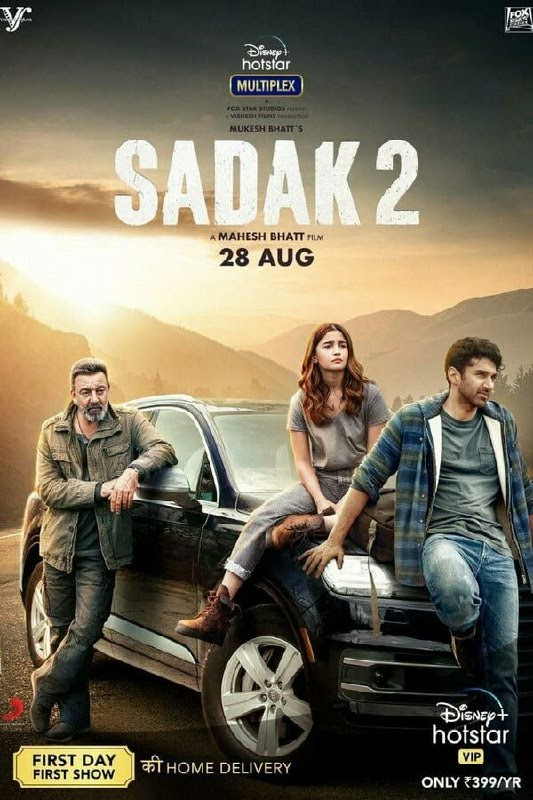 Sadak 2 (2020) 480p 720p 1080p Web-DL Hindi | Hotstar Movie