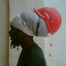 rasta construction worker - hard hat