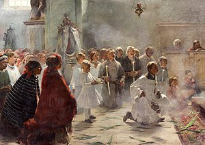 """Palm Sunday mass"" by Zdzisław Jsiński"