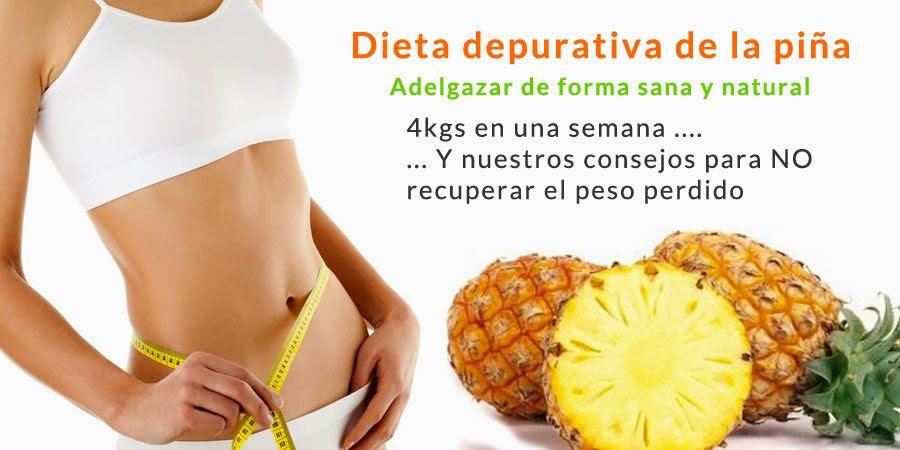 dieta depurativa piña naturhouse