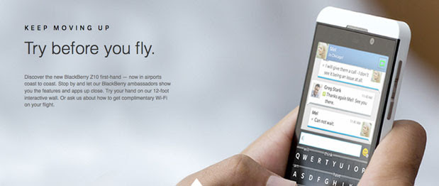 BlackBerry Z10 users can Gogo to Delta for free inflight WiFi