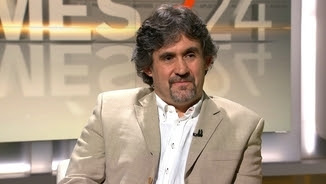 """El secretari general d'Eusko Alkartasuna, Pello Urizar, durant l'entrevista al """"Més 324"""""""