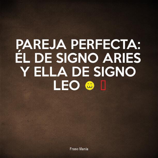 Cartel Para Pareja Perfecta él De Signo Aries Y Ella De Signo Leo