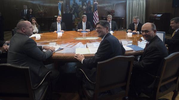 La reunión en el Ministerio de Economía (Adrián Escandar)