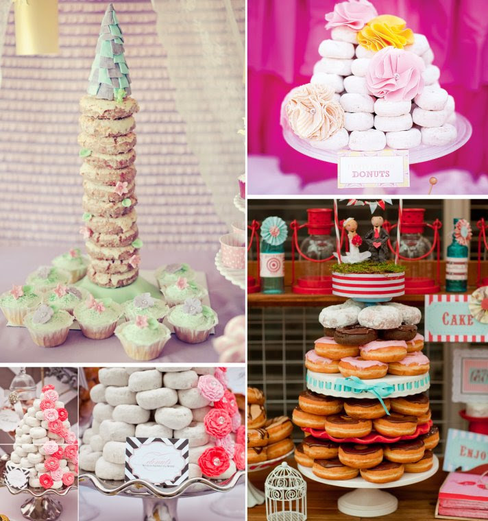wedding cake alternatives Donut Cakes